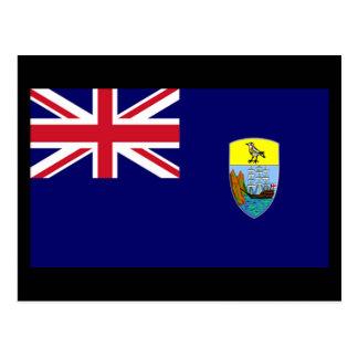 Cartão Postal Bandeira da ilha de Santa Helena