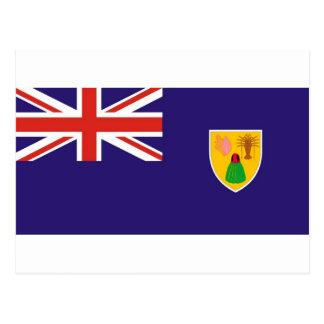 Cartão Postal Bandeira da ilha de turcos e de Caicos