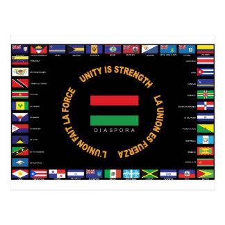 Cartão Postal Bandeira das caraíbas da unidade do oficial