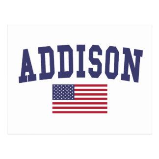 Cartão Postal Bandeira de Addison E.U.