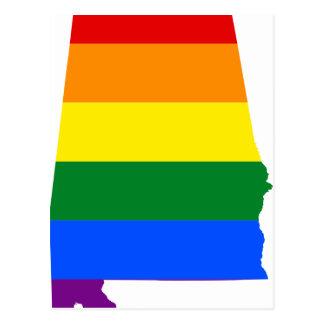 Cartão Postal Bandeira de Alabama LGBT