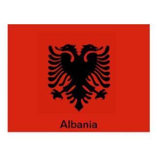 Cartão Postal Bandeira de Albânia