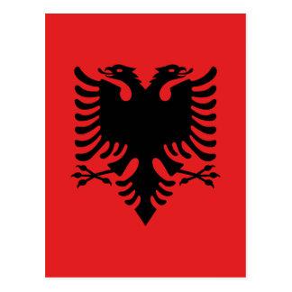 Cartão Postal Bandeira de Albânia - Flamuri mim Shqipërisë