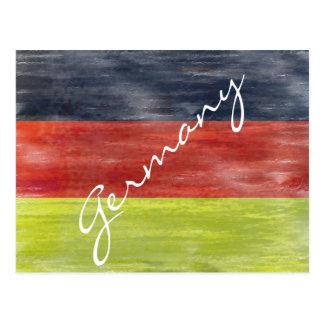 Cartão Postal Bandeira de Alemanha - bandeira alemão -
