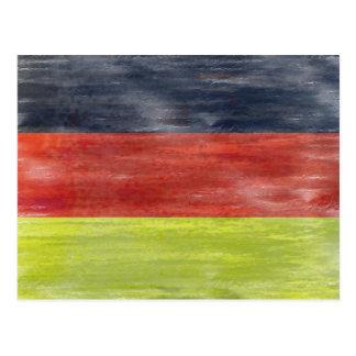 Cartão Postal Bandeira de Alemanha - bandeira alemão