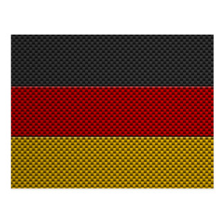 Cartão Postal Bandeira de Alemanha com efeito da fibra do