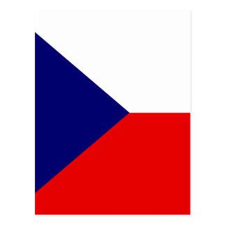 Cartão Postal Bandeira de alta qualidade checa