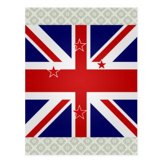 Cartão Postal Bandeira de alta qualidade de Nova Zelândia