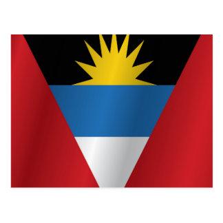 Cartão Postal Bandeira de Antígua e de Barbuda