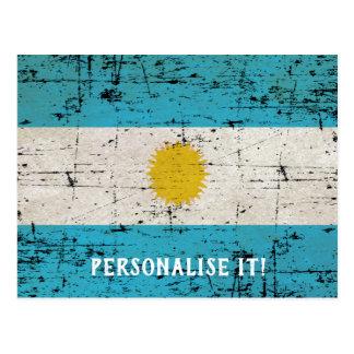 Cartão Postal Bandeira de Argentina
