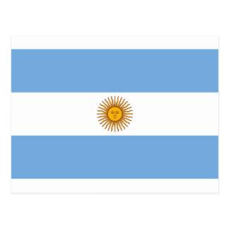 Cartão Postal Bandeira de Argentina - bandera de Argentina