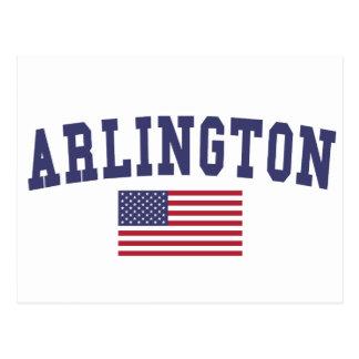 Cartão Postal Bandeira de Arlington TX E.U.