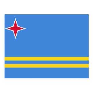 Cartão Postal Bandeira de Aruba
