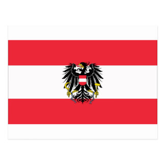 Cartão Postal Bandeira de Áustria - Flagge Österreichs
