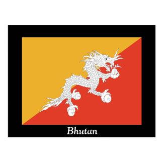 Cartão Postal Bandeira de Bhutan