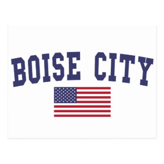 Cartão Postal Bandeira de Boise City E.U.