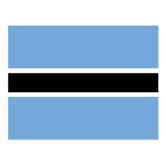 Cartão Postal Bandeira de Botswana
