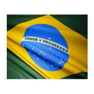 Cartão Postal Bandeira de Brasil