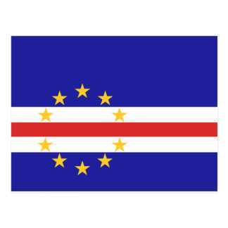 Cartão Postal Bandeira de Cabo Verde