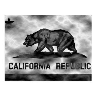 Cartão Postal Bandeira de Califórnia do plasma