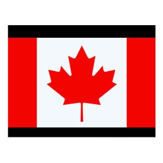 Cartão Postal Bandeira de Canadá