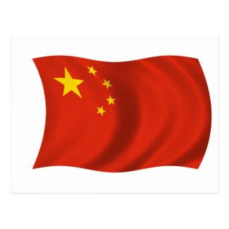 Cartão Postal Bandeira de China