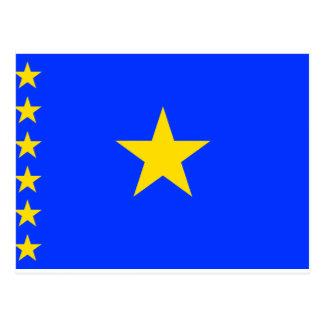 Cartão Postal Bandeira de Congo Kinshasa