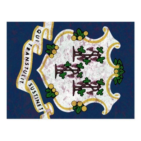 Cartão Postal Bandeira de Connecticut
