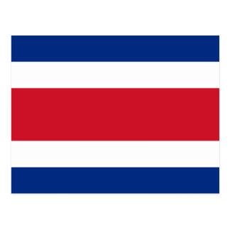 Cartão Postal bandeira de Costa-Rica