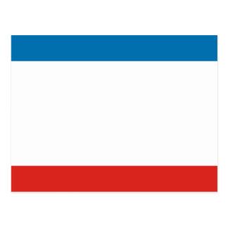 Cartão Postal Bandeira de Crimeia
