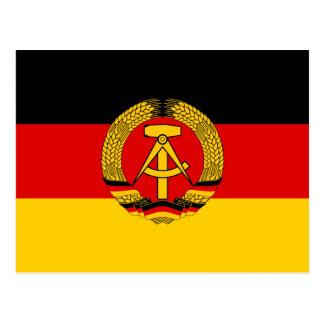 Cartão Postal Bandeira de East Germany