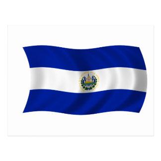 Cartão Postal Bandeira de El Salvador