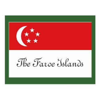 Cartão Postal Bandeira de Faroe Island