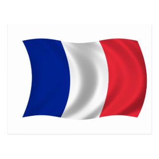 Cartão Postal Bandeira de France