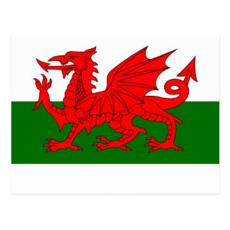 Cartão Postal bandeira de galês