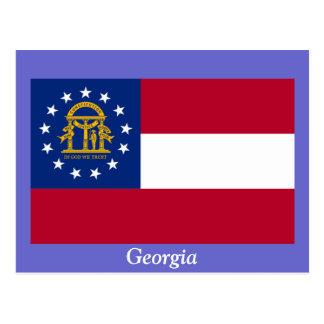 Cartão Postal Bandeira de Geórgia
