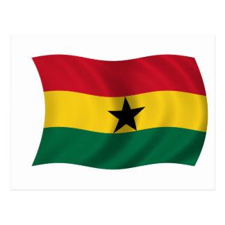 Cartão Postal Bandeira de Ghana