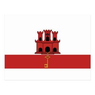 Cartão Postal Bandeira de Gibralter
