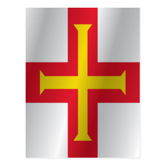 Cartão Postal Bandeira de Guernsey