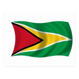 Cartão Postal Bandeira de Guyana
