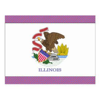 Cartão Postal Bandeira de Illinois