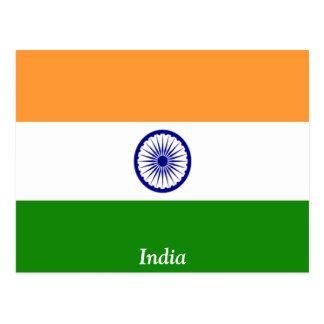 Cartão Postal Bandeira de India