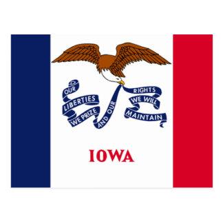 Cartão Postal Bandeira de Iowa