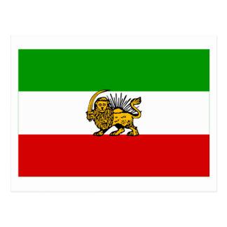 Cartão Postal Bandeira de Irã (1925-1979)