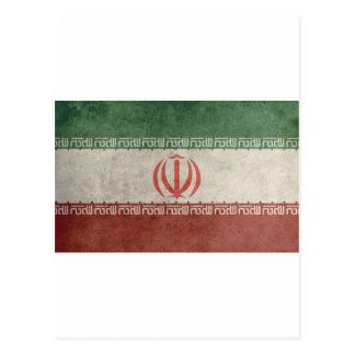 Cartão Postal Bandeira de Irã do vintage