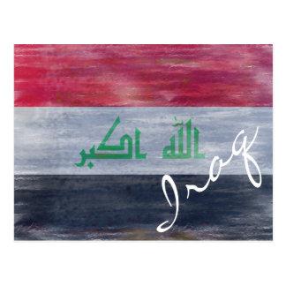 Cartão Postal Bandeira de Iraque - bandeira iraquiana -