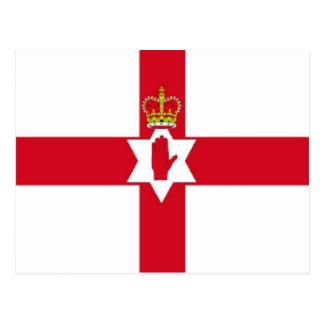 Cartão Postal Bandeira de Irlanda do Norte