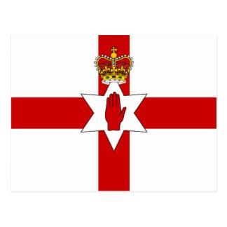 Cartão Postal Bandeira de Irlanda do Norte da bandeira de Ulster