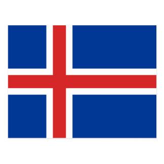 Cartão Postal Bandeira de Islândia