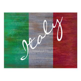Cartão Postal Bandeira de Italia - bandeira italiana -